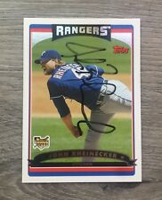 JOHN RHEINECKER OAKLAND ATHLETICS A'S TEXAS RANGERS SIGNED 2006 TOPPS UPDATE (B)