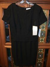 CHE STUDIO Womens 8 Black SS Cocktail Layer Look Little Black Dress NWT