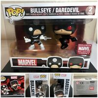 New Funko Pop! Marvel 2 Pack Bullseye / Daredevil Collector Corps Exc Box Damage