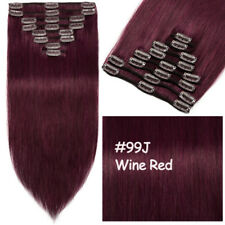 """Popular Clip In Remy Human Hair Extensions 7/8 Pcs Full Head Tangle Free 16"""" MY"""