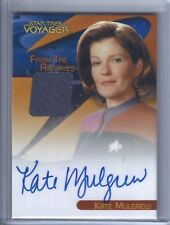 The Quotable Star Trek Voyager - Kate Mulgrew / Janeway Autograph Costume Relic