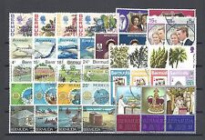 Bermuda Set di 1970-77 COMMEMORATIVI Cat £ 27.30