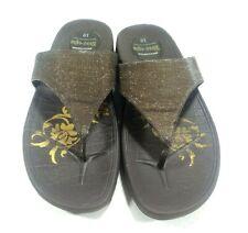 Skechers Tone-Up Black Glitter Thong Sandals Women's Size 10