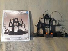Hallmark Keepsake Halloween Ornament Display Stands Old Oak & Howl-oween Houses
