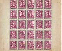 SPAIN, CIVIL WAR STAMPS , LOCAL POST , PART  SHEET UNMOUNTED MINT REF 58