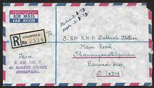 Singapore #165 SG 186 1971 75c Ship etc on registered cover