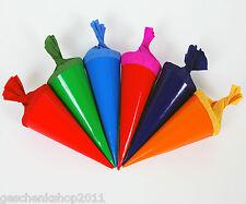 6er Deco Schultüten Zuckertüte 12 cm Einschulung Schulanfang Dekoration Schule