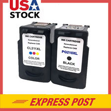 2 PK PG-210XL CL-211XL Black & Color Ink For Canon PIXMA MP240 MP250 MP270 MX360