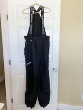 SPYDER Mens Black Thinsulate Ski Snow Bibs Overall Suspender breakaway side zip