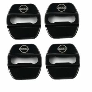 4pcs/set Car Stainless steel Door Lock Cover Buckle Cap trim Fit For Nissan