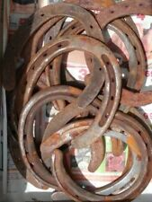 Rusty Lucky Horseshoe ,Steel, Cast Iron Decorative Rustic Western Decor, Montana
