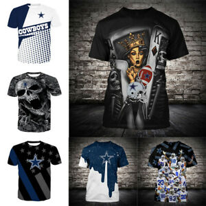 Dallas Cowboys Football Primary Short Sleeve T-Shirt fan's gift Tee Top