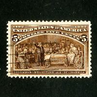 US Stamps # 234 Jumbo used w/ deep color