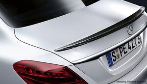 Carbon Fibre Rear Trunk Lip Spoiler Wing Mercedes-Benz W205 C-Class Sedan 2015