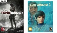 tomb raider    &   lost horizon 2 steelbook edition  new&sealed  SEE DESCRIPTION