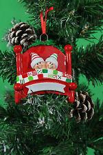 ALBERO di Natale personalizzata Decorazione Ornamento HAPPY FAMILY a letto