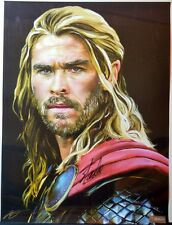 MIGHTY THOR / CHRIS HEMSWORTH Ltd Ed PRINT HAND SIGNED by STAN LEE w COA