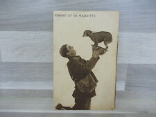 Old postcard - Military - Tommy et sa mascotte