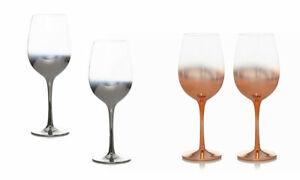 Aurora Pack of 2Festival Christmas Wine Glasses Metali Brand New UK STOCK