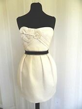 NWT $288 BCBG MAX AZRIA Strapless Cream Ivory Cocktail Formal Dress Size 6