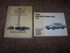 1992 Lincoln Town Car Shop Service Repair Manual Signature Executive Cartier
