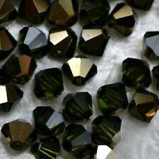 25 Perles Cristal-TOUPIES SWAROVSKI - OLIVINE DORADO    4 mm