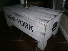 Couchtisch Truhe Tisch Kiste Frachtkiste Holzkiste Loft Shabby New York