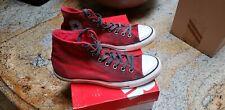 Converse all star chuck taylor Mens 9.5 Custom Red White black high top