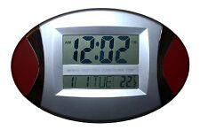 Design Digital Uhr Wanduhr 12/24 Stunden Datum Kalender Alarm Timer Snoze Clock