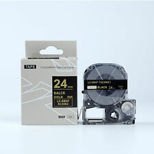 Compatible EPSON LC-6BKP Standard LC Label Tape Gold on Black 24mm 8m 1 x 26""