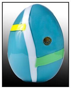Lino Tagliapietra Original Murano Blown Glass Egg Sculpture Hand Signed Oggetti