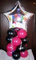 FOIL BALLOON AGE 13 13th BIRTHDAY TABLE DECORATION DISPLAY AIRFILL TEENAGER BB