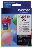 Brother LC203BK Innobella High Yield Black Ink Cartridge, XL Series