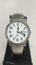 USED Timex Men's INDIGLO Easy Reader Day-Date Steel Expansion Band Watch T20461