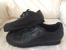 Puma 3087 Mens Roma Black Leather Athletic Shoes Sneakers 15