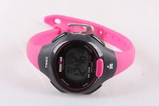TIMEX IRONMAN TRIATHLON INDIGLO WOMENS100M 10 LAP WRISTWATCH PINK 7973