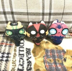Marvel The Avengers SpiderMan Deadpool Loki Plush Keychain Doll Pillow Stuffed N