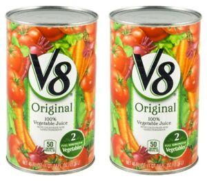 2 V8 Original 100% Vegetable Juice 46 oz Cans