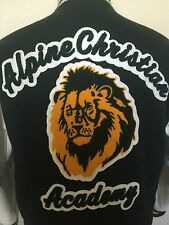Lettermans Jacket Alpine Christian Academy Lion Jacket M