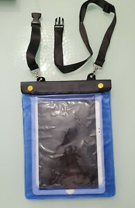"Blue Tablet Waterproof Pouch Dry Bag Case Cover For 10"" Tablets NEW Dual Ziplock"
