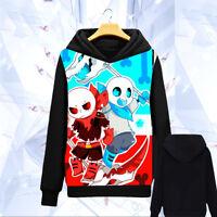 Game Undertale Sans Anime Cosplay Hoodie Sweatshirt Jacket Coat #DFG-457