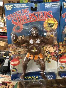 1986 LJN WWF Wrestling Superstars Kamala MOC unused New Old Stock Bubble Dents