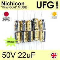 10V Nichicon UKA Ka alto grado de ancho de temperatura 105C Para Audio Condensadores