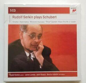 Rudolf Serkin plays Schubert (5 CDs, 2015, Sony Classical) Sealed - Piano Sonata