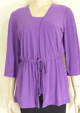 CSC Studio Carolyn Strauss Collection top jacket 2 pc set NWT S purple mauve USA