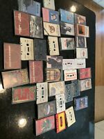 30 + music cassette tapes lot - Rolling Stones, Willie Nelson, Patsy Cline