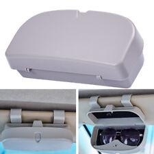 1x Grau Auto Brillenetui Sonnenbrille Sonnenblende Etui Aufbewahrung Tasche groß