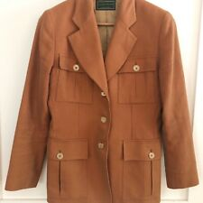 Holland & Holland Vintage Equestrian Safari Terracotta Cotton Blazer Jacket Sz 8