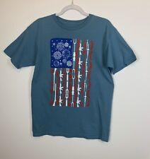 Ranger Up Men's Size Medium T-shirt, July 4th, BBQ, Flag, Guns, Fireworks, EUC