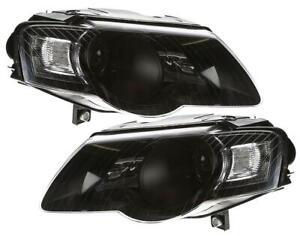 Scheinwerfer VOLKSWAGEN VW PASSAT 3C B6 05-10 schwarz + STELLMOTOR LINKS RECHTS